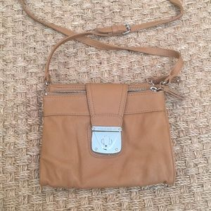 Nine West Tan Crossbody with 4 large pockets